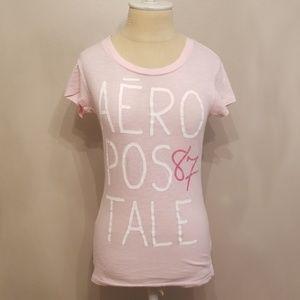 Aeropostale Light Pink Short Sleeve 87 Tshirt